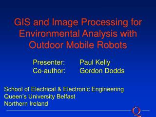 GIS and Image Processing for Environmental Analysis with Outdoor Mobile Robots