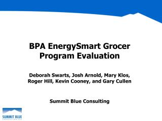 BPA EnergySmart Grocer Program Evaluation