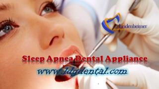 Sleep Apnea Dental Appliance