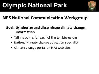 NPS National Communication Workgroup