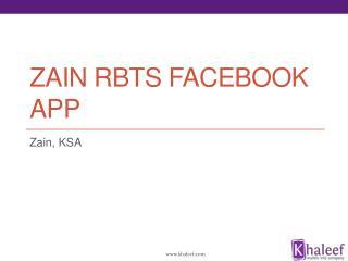 Zain RBTs Facebook App