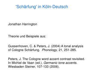 'Sch ä rfung' in Köln-Deutsch