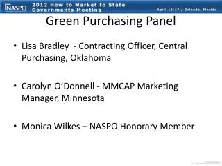 Green Purchasing Panel