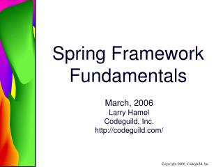 Spring Framework Fundamentals