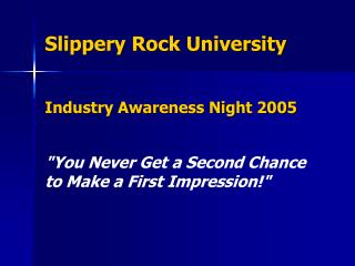 Industry Awareness Night 2005