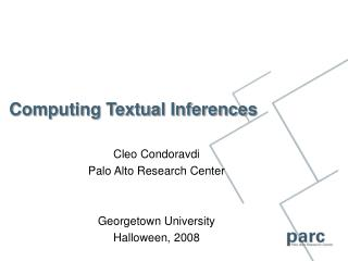Computing Textual Inferences