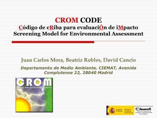 Juan Carlos Mora, Beatriz Robles, David Cancio