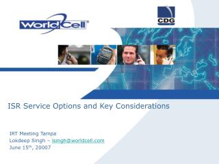 ISR Service Options and Key Considerations