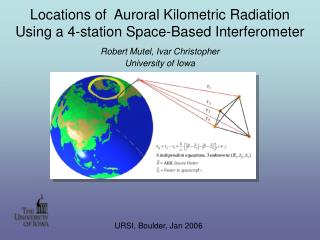 Locations of  Auroral Kilometric Radiation Using a 4-station Space-Based Interferometer
