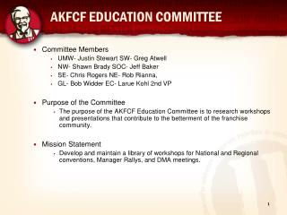 AKFCF EDUCATION COMMITTEE