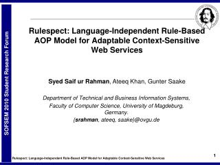 Rulespect: Language-Independent Rule-Based AOP Model for Adaptable Context-Sensitive Web Services