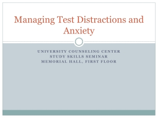 Managing Test Anxiety