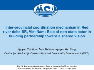 Nguyen Thu Hue, Tran Thi Hoa, Nguyen Van Cong