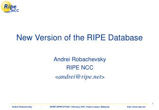 New Version of the RIPE Database