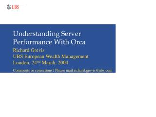 Understanding Server Performance With Orca