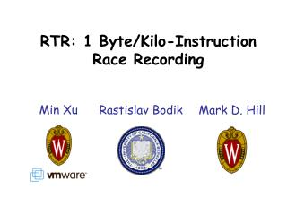 RTR: 1 Byte/Kilo- I nstruction Race Recording