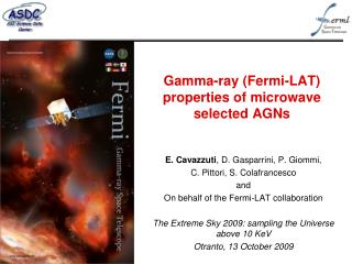 Gamma-ray (Fermi-LAT) properties of microwave selected AGNs
