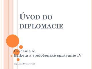 Úvod do diplomacie