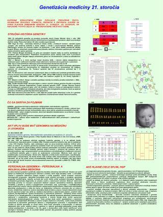 Genetizácia medicíny 21. storočia