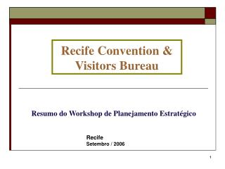 Recife Convention & Visitors Bureau