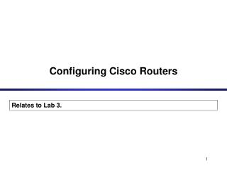 Configuring Cisco Routers