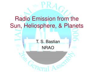 Radio Emission from the Sun, Heliosphere, & Planets