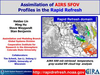 Assimilation of  AIRS SFOV  Profiles in the  Rapid Refresh