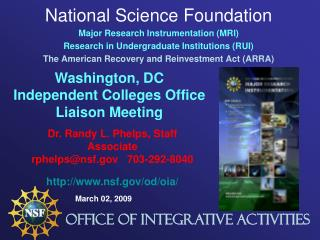 National Science Foundation Major Research Instrumentation (MRI)