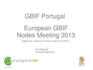 European  GBIF Nodes Meeting 2013