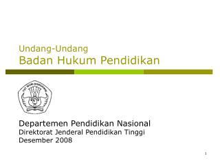 Undang-Undang Badan Hukum Pendidikan