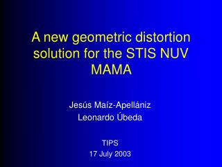 A new geometric distortion solution for the STIS NUV MAMA
