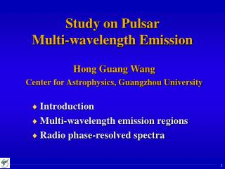 Study on Pulsar  Multi-wavelength Emission