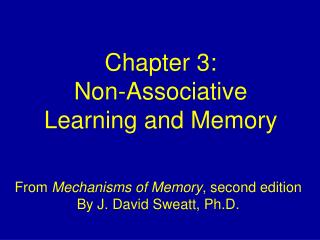 Chapter 3: Non-Associative Learning and Memory
