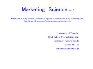 Marketing Science  no.5