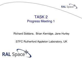 TASK 2 Progress Meeting 1