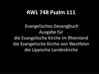748 Psalm 111