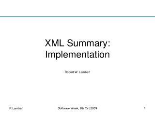 XML Summary:  Implementation