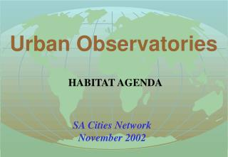 Urban Observatories