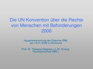Die UN Konvention �ber die Rechte von Menschen mit Behinderungen 2006