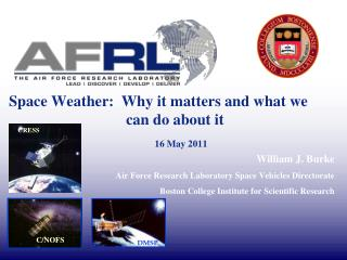 Space Weather:  Why it matters and what we    			  can do about it 16 May 2011