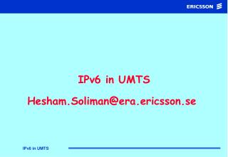 IPv6 in UMTS