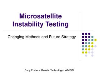 Microsatellite Instability Testing