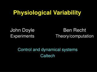 Physiological Variability
