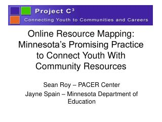 Online Resource Mapping: Minnesota's Promising Practice to Connect Youth With Community Resources