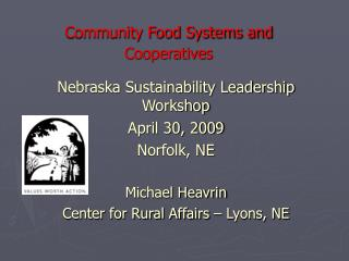 Community Food Systems and Cooperatives
