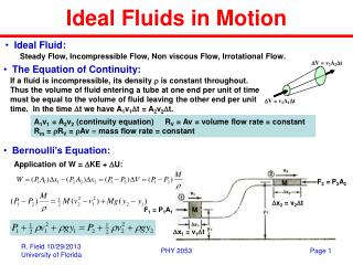 Ideal Fluids in Motion