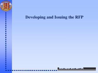 Developing and Issuing the RFP