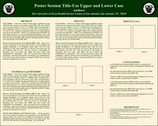 Poster Session Title-Use Upper and Lower Case Authors