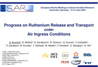 Progress on Ruthenium Release and Transport under Air Ingress Conditions