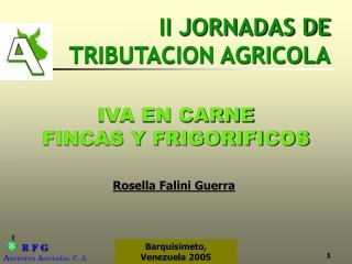 II JORNADAS DE TRIBUTACION AGRICOLA